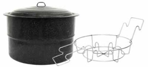 Granite Ware 33 Quart Water Bath Canner with Jar Rack