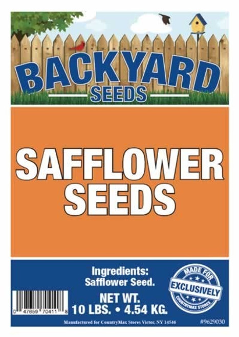 Backyard Seeds Safflower Bird Seed 10 Pounds