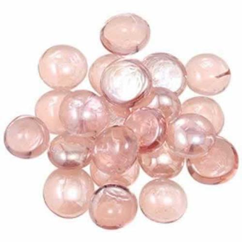 Penn Plax Glass Marbles Pink/Peach Gem-Stones 90 Count
