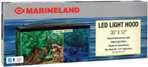 "Marineland LED Aquarium Hood, 30"" x 12"