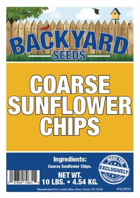 Backyard Seeds Coarse Sunflower Hearts Bird Seed 10 Pounds