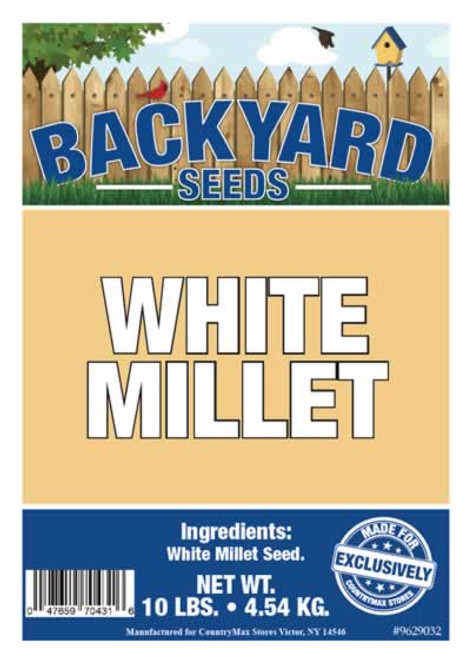Backyard Seeds White Millet 8 Pounds