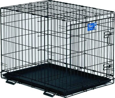 Midwest Life Stages 1630 Single Door Folding Dog Crate 30 X 21 X 24