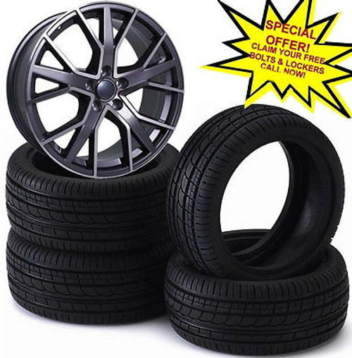"""19""""rs6 d gmp alloy wheels vw golf audi/vw/tt/t4/a4/a3/a6/skoda/seat/ with tyres"""