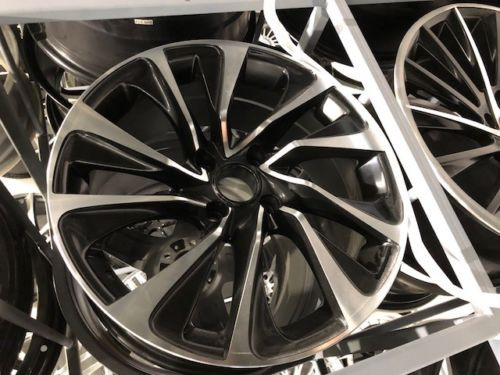 """17""""black polished Alloy Wheels ford 4x108 4 stud with 2154517 tyres"""