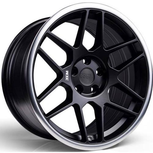 3SDM 0.09 Alloy Wheels Matt Black / Mirror Polished Lip
