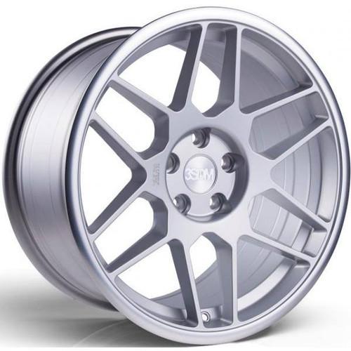 3SDM 0.09 Alloy Wheels Matt Silver / Mirror Polished Lip
