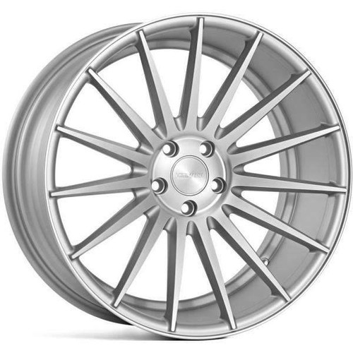 Veemann VC7 Alloy Wheels Full Matt Silver Polished