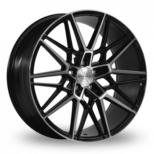 Axe CF1 Gloss Black Polished Face Alloy Wheels