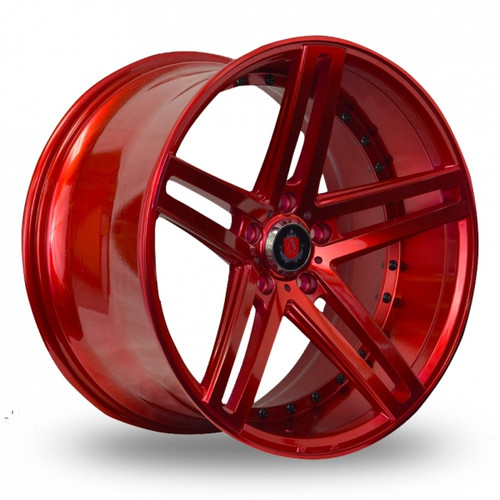 Axe EX20 Candy Red Alloy Wheels
