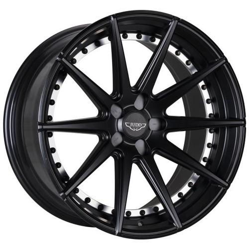 Copy of Judd T311 Alloy Wheels Matt Gunmetal Black Rivets