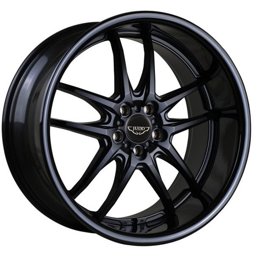 """Judd T404 Alloy Wheels Matt Black With 2.5"""" Lip Fitted (various Colours)"""