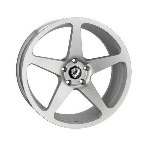 Cades Vulcan Alloy Wheels Brushed Silver