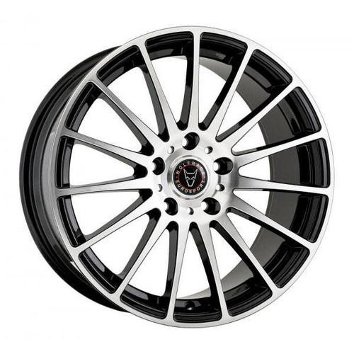 Wolfrace Eurosport Turismo Alloy Wheels Gloss Black / Polished