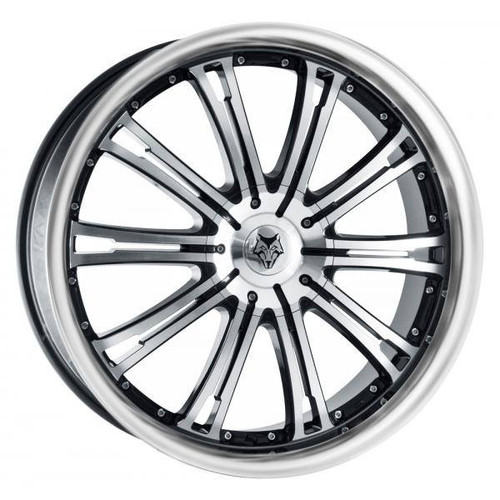 Wolf Design Vermont Alloy Wheels Gloss Black / Polished / Polished Lip