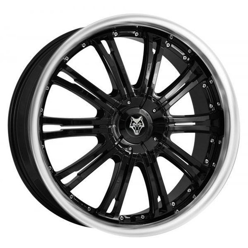 Wolf Design Vermont Alloy Wheels Gloss Black / Polished Lip