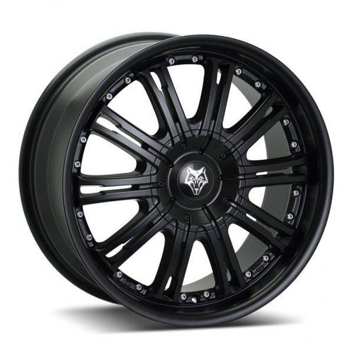 Wolf Design Vermont Alloy Wheels Matt Black / Silver Rivets