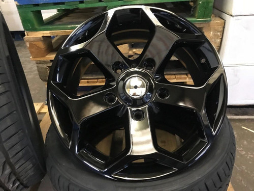 "18""black gloss Ford Transit Alloy Wheel-Commercial Van MK6 /MK7/MK8-st with tyres"