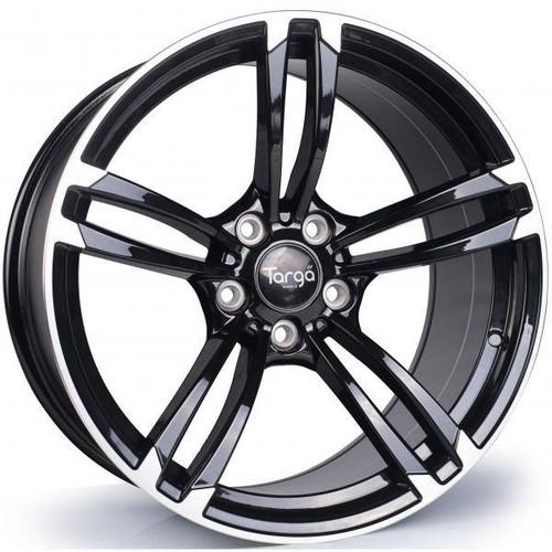 Targa TG1 Alloy Wheels Gloss Black / Polished Spoke