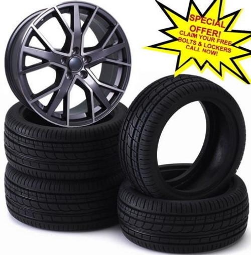 "21""rs6 d new gm alloy wheel for audi q7/vw tourag /porsche cayenne & tyres q3 q5"