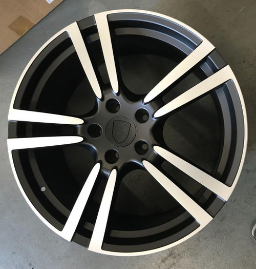 "21""black turbo 2 alloy wheels for audi q7/vw tourag 5x130/porsche cayanne tyres"