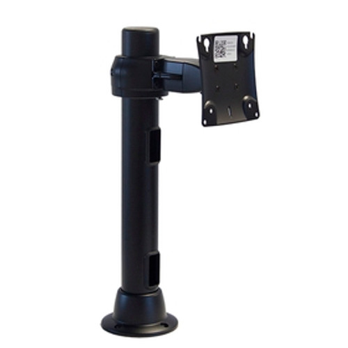 Preconfigured Monitor Mount Grommet Double Pivot 16 inch Pole