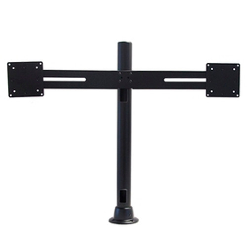 Dual Side By Side Monitor Mount With 24 inch Pole