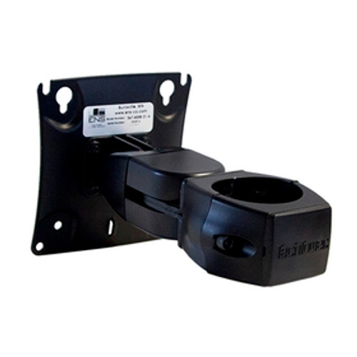 Double Pivot Flat Panel Monitor Mount Fixed Pole Clamp