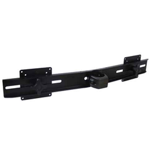 Dual Monitor Bar Two Flat Panel Monitor Mounts Pole Clamp