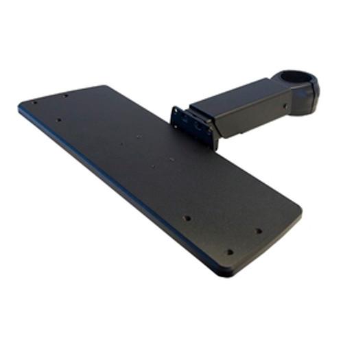 Keyboard Tray Arm Telescoping Length Rotating Clamp