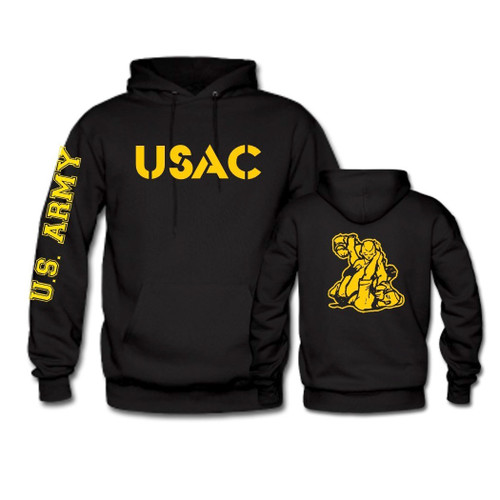 USAC Fighter Hoodie with Gold Print