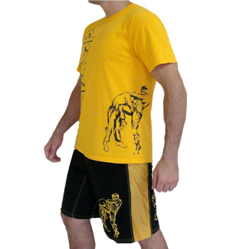 MACP Gold Knee Logo Fight Shirt
