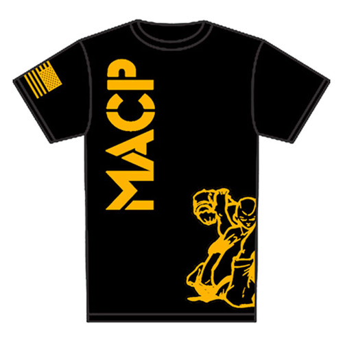 Kids MACP Gold Print on Black Fight Shirt