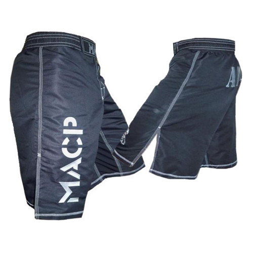 Youth MACP Kiddie Black and Silver Fight Shorts