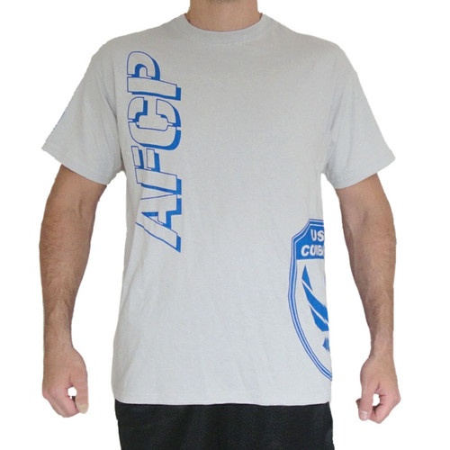 AFCP Fight Shirt Blue Print on White