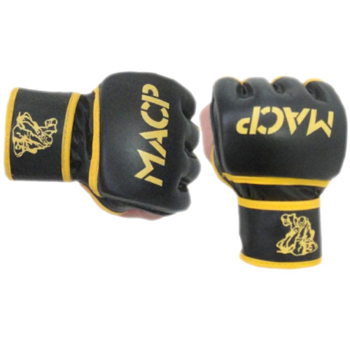 MACP Black and Gold Fight Gloves 4oz