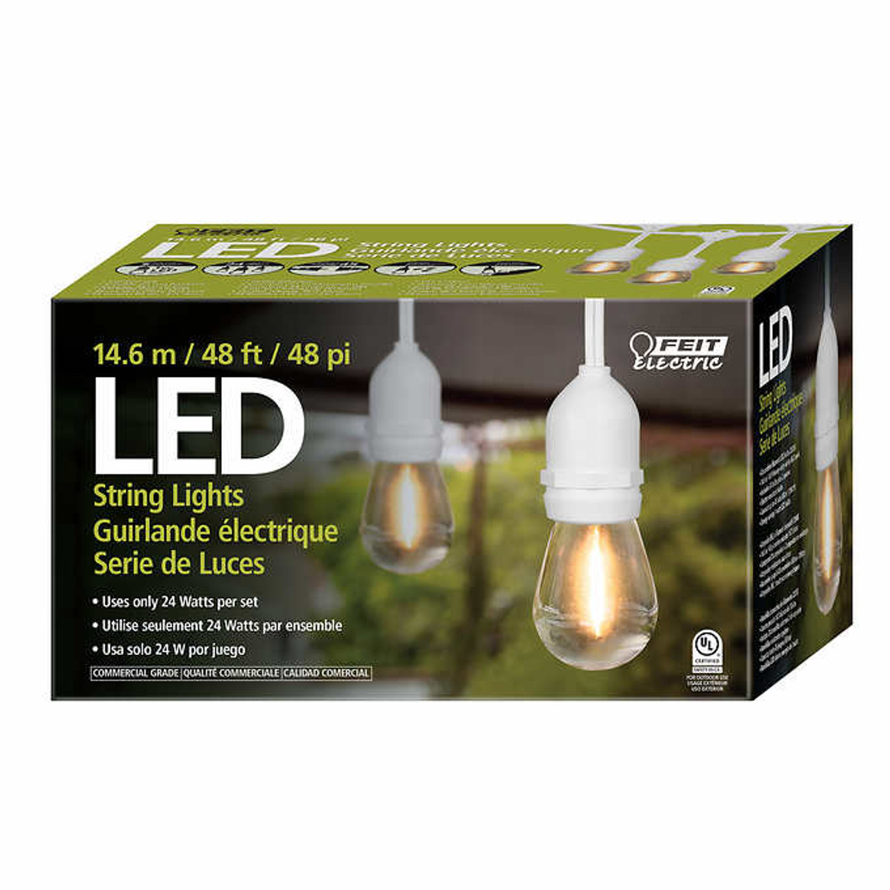 Feit Electric String Lights Beauteous Feit 60' LED Filament String Light Set