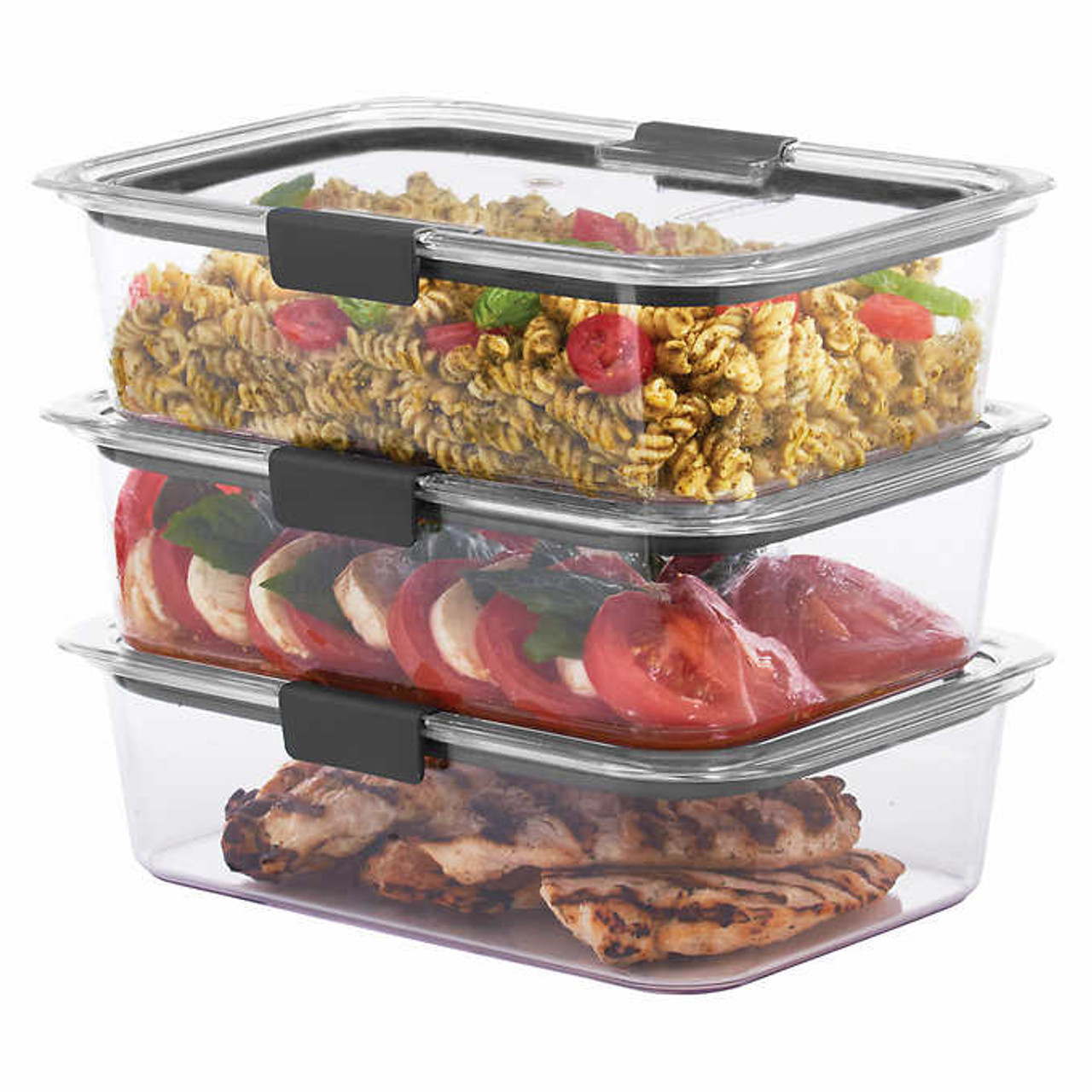 Rubbermaid Brilliance Food Storage Container Set 22 Piece Clear Awesome Rubbermaid Brilliance 60piece Food Storage Containers With Lids