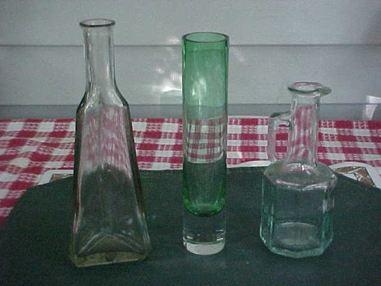 Vintage Collectible Glass Vases Lot Of 3