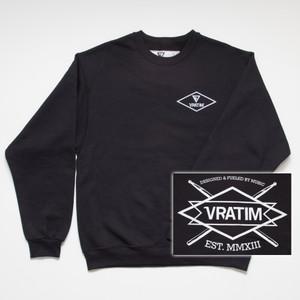 The Vratim Crest Sweatshirt - front w/ back detail