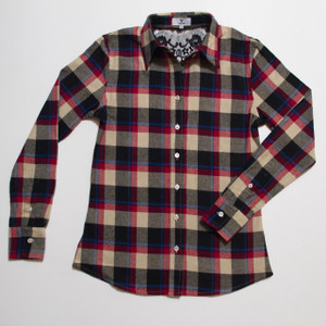 The Brooke Flannel - Red front