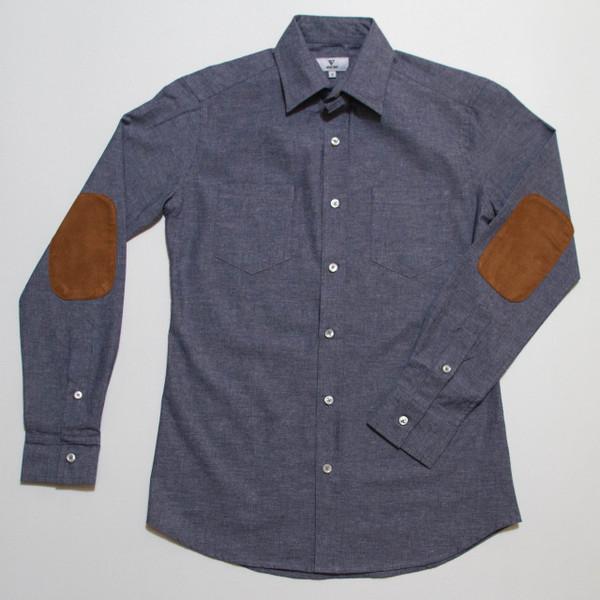 The Nicholas Button-Up - Blue Denim front