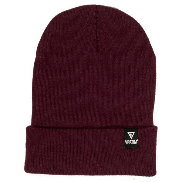 The Vratim Cuff Beanie - burgundy