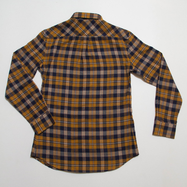 The Vratim Slim Flannel - Amber back