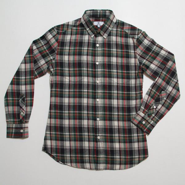 The Vratim Slim Flannel - Green front