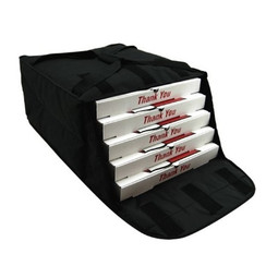 "OVENHOT! PBF4 16/18"" Black fabric delivery bags"