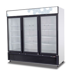 Migali C-72RM-HC Glass Door Merchandiser Refrigerator (72 cu ft)
