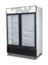 Migali C-49FM-HC Glass Door Merchandiser Freezer - 2 Hinged Door