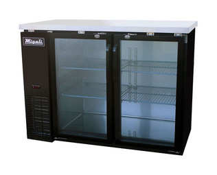 Migali C-BB48G-HC Glass Door Back Bar Refrigerator (11.8 cu ft)