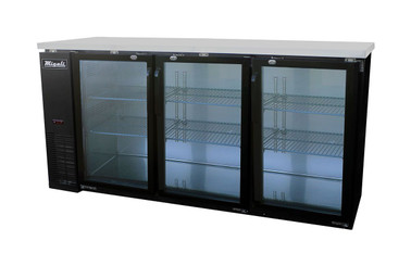 Migali C-BB72G-HC Glass Door Back Bar Refrigerator (19.6 cu ft)